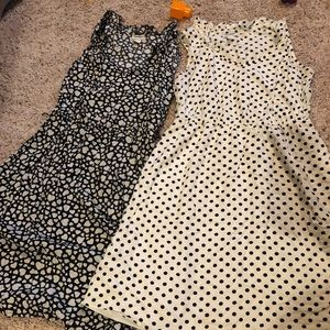 Lot of 3 old navy dresses polka dots and florals